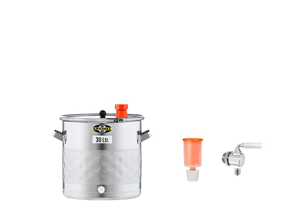 »Fermentation and storage barrel UF with double jacket« KIT